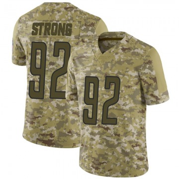 Men's Kevin Strong Jr. Detroit Lions Limited Camo 2018 Salute to Service Jersey