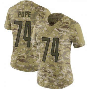 Women's Ryan Pope Detroit Lions Limited Camo 2018 Salute to Service Jersey