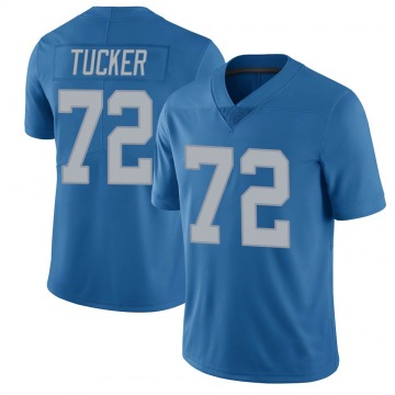 Youth Casey Tucker Detroit Lions Limited Blue Throwback Vapor Untouchable Jersey