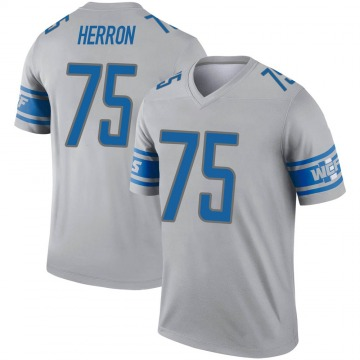 Youth Frank Herron Detroit Lions Legend Gray Inverted Jersey