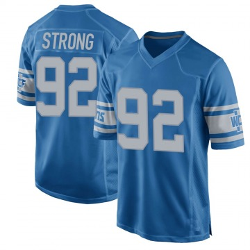 Youth Kevin Strong Jr. Detroit Lions Game Blue Throwback Vapor Untouchable Jersey