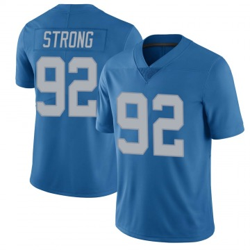 Youth Kevin Strong Jr. Detroit Lions Limited Blue Throwback Vapor Untouchable Jersey