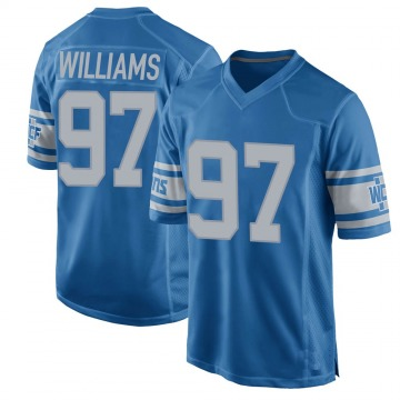 Youth Nick Williams Detroit Lions Game Blue Throwback Vapor Untouchable Jersey