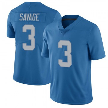 Youth Tom Savage Detroit Lions Limited Blue Throwback Vapor Untouchable Jersey